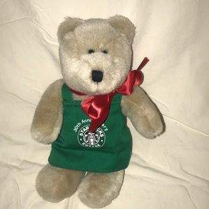 30th Anniversary Starbucks Coffee plush bear